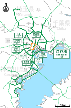 Shutoko expwy C1 route.png