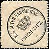 Siegelmarke Königlich - Sächsische - Güter - Verwaltung - Chemnitz W0209241.jpg