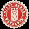 Siegelmarke Stadt Kasse - Menden in Westfalen W0246445.jpg