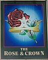 Sign for the Rose and Crown - geograph.org.uk - 1108580.jpg