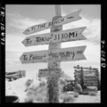 Sign on Tarawa illustrates Marine humor and possible lack of optimism as to duration of war. - NARA - 520987.tif