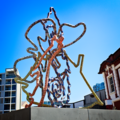 Signal forest a sculpture by Yolunda Hickman at the 4 plinths Te Papa Wellington 01 01.png