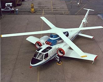 Cruciform wing - Sikorsky S-72 modified as the X-Wing testbed. It never flew.