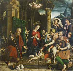 Adoration of the Shepherds (Domenichino) - Image: Simon de Châlons Adoration des bergers