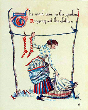 Sing a Song of Sixpence - Image: Sing a sing of sixpence illustration by Walter Crane Project Gutenberg e Text 18344