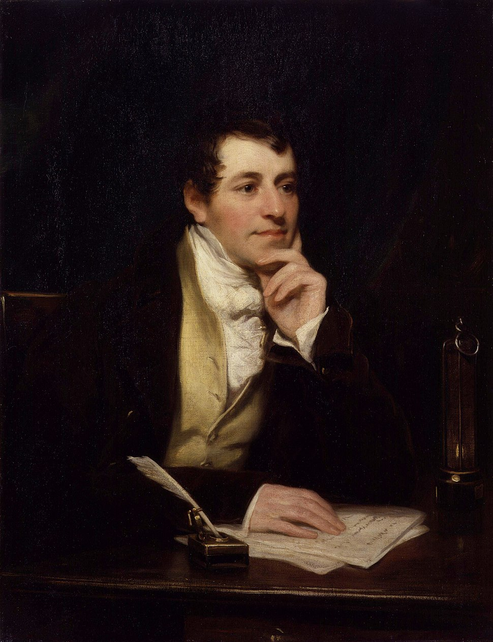 Sir Humphry Davy, Bt by Thomas Phillips