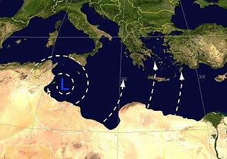 Sirocco - Sirocco wind diagram by Piotr Flatau