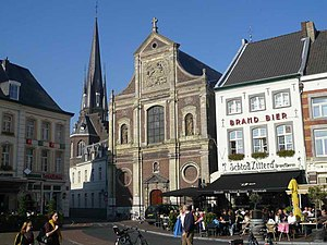 Sittard - Close up of Sittard ancient market square.