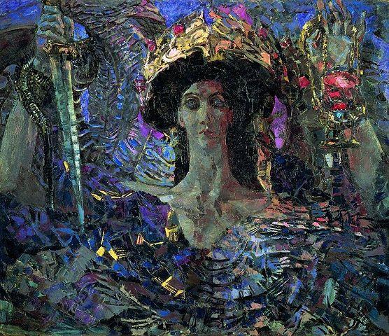 Шестикрылый серафим (Азраил). 1904, Государственный Русский музей