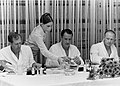 Skylab 4 crew breakfast on launch morning.jpg