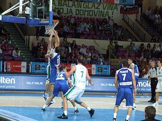 Primož Brezec - Image: Slovenia vs. Serbia at Euro Basket 2009 (08)