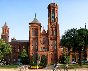 Romanesque Revival architecture - The Smithsonian Institution Building, an early example of American Romanesque Revival designed by James Renwick Jr. in 1855