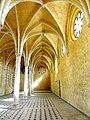 Soissons (02), abbaye Saint-Jean-des-Vignes, réfectoire, vaisseau est, vue vers le nord 3.jpg
