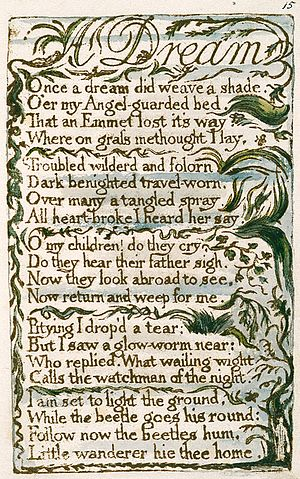 A Dream (Blake) - Image: Songs of Innocence and of Experience, copy L, 1795 (Yale Center for British Art) 15 26 A Dream
