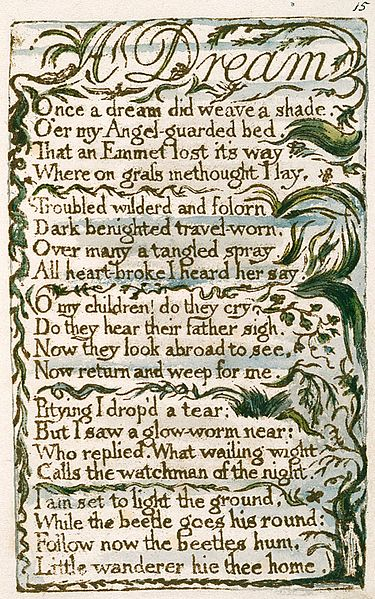 """a summary of william blakes collections of poems songs of innocence and songs of experience A summary of """"the lamb"""" in william blake's songs of innocence and experience learn exactly what happened in this chapter, scene, or section of songs of innocence."""