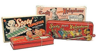 Pixiphone - Sooty Xylophones sold in the 1950s and 1960s