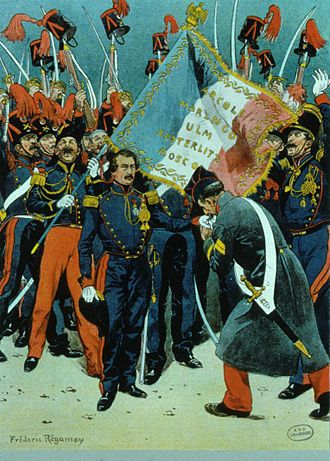 Napoleon III - Louis-Napoleon launching his failed coup in Strasbourg in 1836.