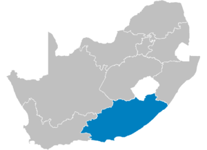 Map of South Africa showing the Eastern Cape p...
