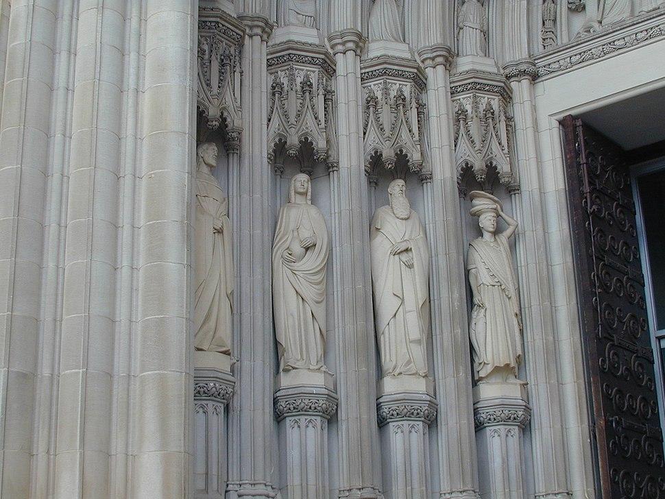 South portal sculpture Washington National Cathedral