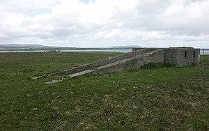 South Walls - Radar platform at WWII Heavy Anti Aircraft Gun site on South Walls near Wyng