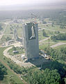 Space Shuttle Enterprise Lifted into Dynamic Test Stand (9464497367).jpg