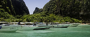 SpeedBoats At Maya Bay, Krabi, Thailand.jpg