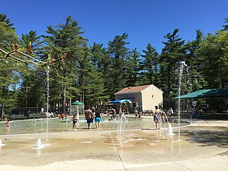 Freetown-Fall River State Forest - Image: Splash pool at Freetown Fall River State Park