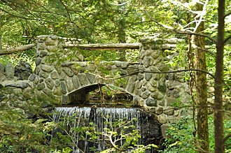 Middlesex Fells Reservation - Bridge crossing 18th-century dam  on Spot Pond Brook