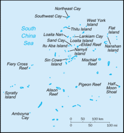 Carte WFB des îles Spratly-CIA.png