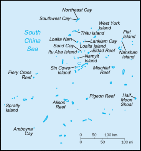 Carte des Îles des Spratleys