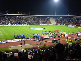 Red Star Stadium - Serbia plays Belgium at Rajko Mitić, 7 October 2006