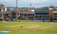 A view of a cricket ground