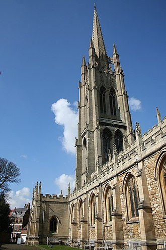St James' Church, Louth - Image: St.James tower and spire geograph.org.uk 860404