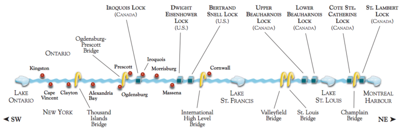 Saint Lawrence Seaway Wikipedia - Us map with st lawrence river
