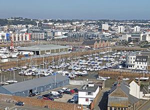 Saint Helier - St Helier viewed across the Old Harbour