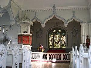 "St John's Church, Shobdon - The Interior - ""a masterpiece of English Rococo"""
