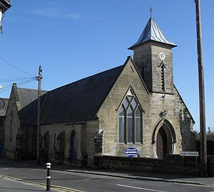 St Luke's United Reformed Church, Silverhill, Hastings - The church hall of 1909 is behind the main body of the church.