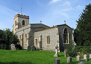 Grade II* listed buildings in East Hertfordshire - Image: St Mary, Aston, Herts geograph.org.uk 377612