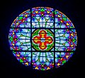 Stained glass window of the Saint John the Baptist Church in Caylus 02.jpg
