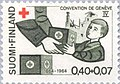 Stamp of Finland - 1964 - Colnect 46441 - handing out of Red Cross Package to a-Child.jpeg