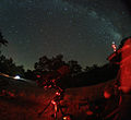 Starry nights and Milky Way and telescope.jpg