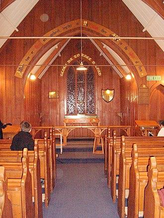 St Barnabas Church, Warrington - Wooden interior of St Barnabas Church.