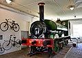 Steam locomotive made in Manchester, England in 1874, service weight 23.4 tons, drug power 3400 kg, max speed 70 km per hour. Eskilstuna stadsmuseum, Sweden.jpg