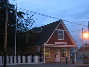 Steveston, British Columbia - The Steveston Museum historical building and post office.