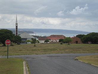 Stilbaai - Stilbaai, with the Dutch Reformed Church in Stilbaai West, looking east