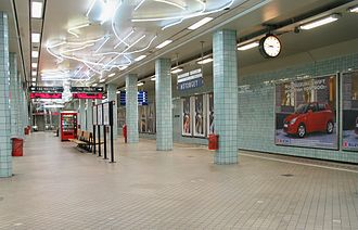 Hötorget - Metro station with original tiles, signs, etc.