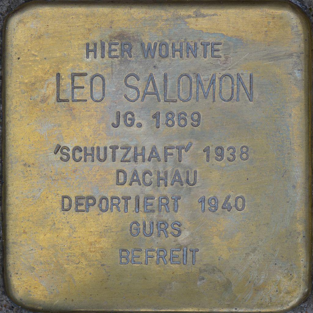 Stolperstein - Salomon, Leo (2016).jpg