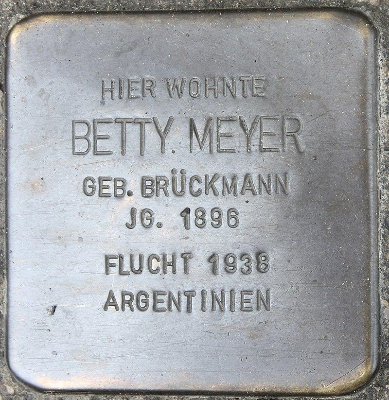 Stolperstein für Betty Meyer