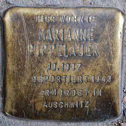 Photo of Marianne Poppelauer brass plaque