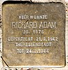 Stolperstein Stierstr 21 (Fried) Richard Adam.jpg